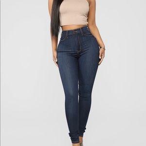 Classic Beauty Skinny Jeans Dark Denim